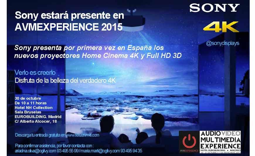 Tu Alta Fidelidad Sony presenta el proyector 4K en la Feria AVME