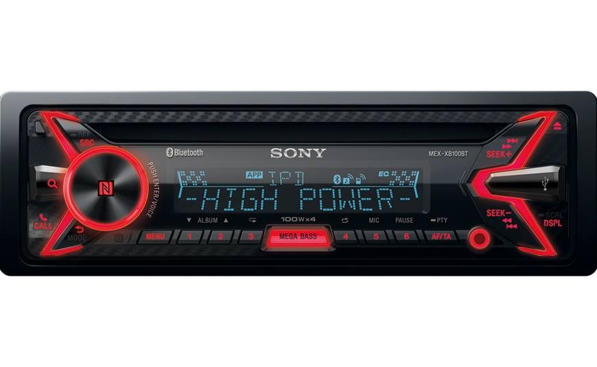 Sony MEX-XB100BT amplificador digital car audio