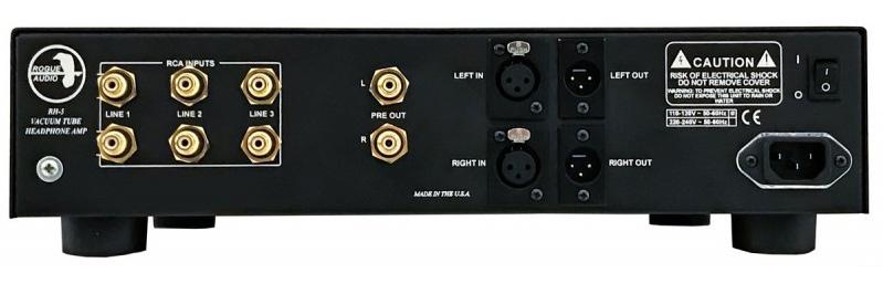 amplificador de auriculares Rogue Audio RH5, trasera