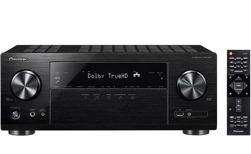 Receptores de A/V Pioneer con compatibles Dolby Atmos y DTS:X VSX-832